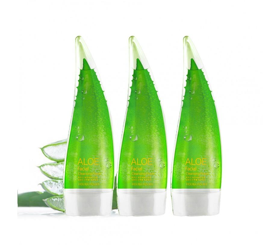 Holika Holika Aloe Facial Cleansing Foam 5.07oz/150ml each (3 Pack)
