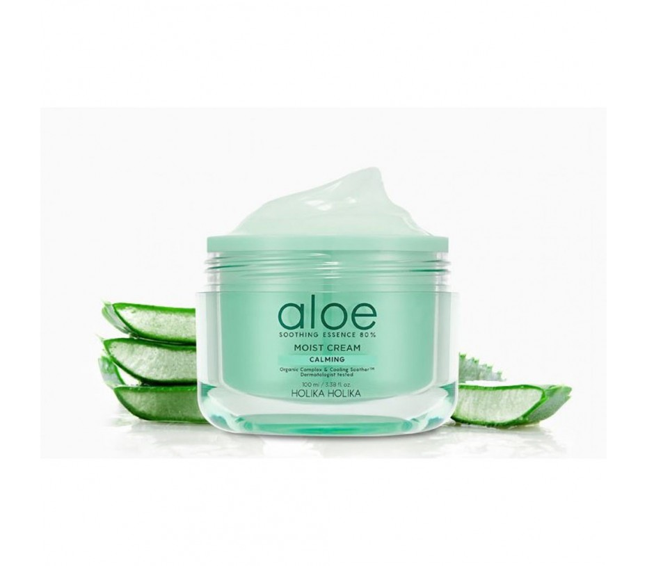 Holika Holika Aloe Soothing Essence 80% Moist Cream 3.38fl.oz/100ml