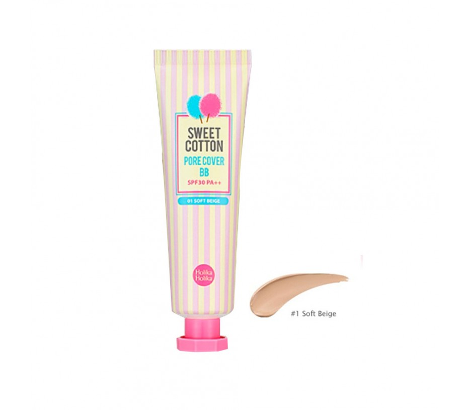 Holika Holika Sweet Cotton Pore Cover BB (01 Soft Beige)