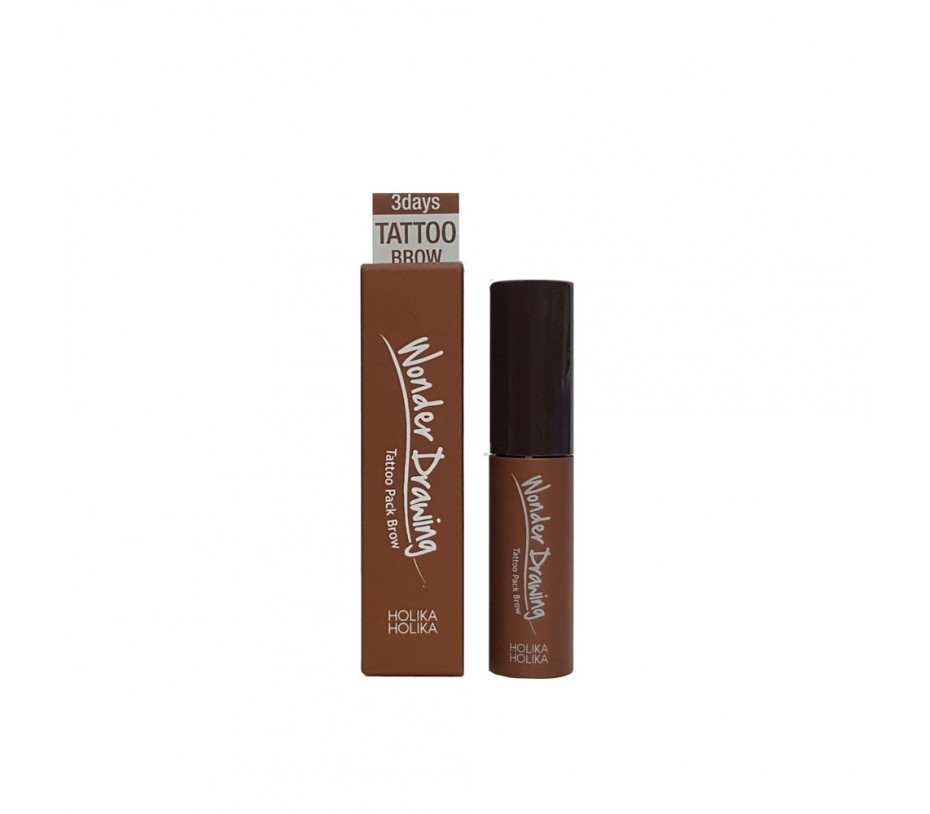 Holika Holika Wonder Drawing Tattoo Pack Brow (#2 Dark Brown) 0.15fl.oz/4.4ml