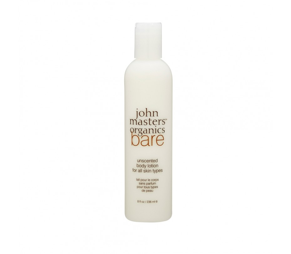 John Masters Organics Bare Unscented Body Lotion for All Skin Types 8fl.oz/237ml