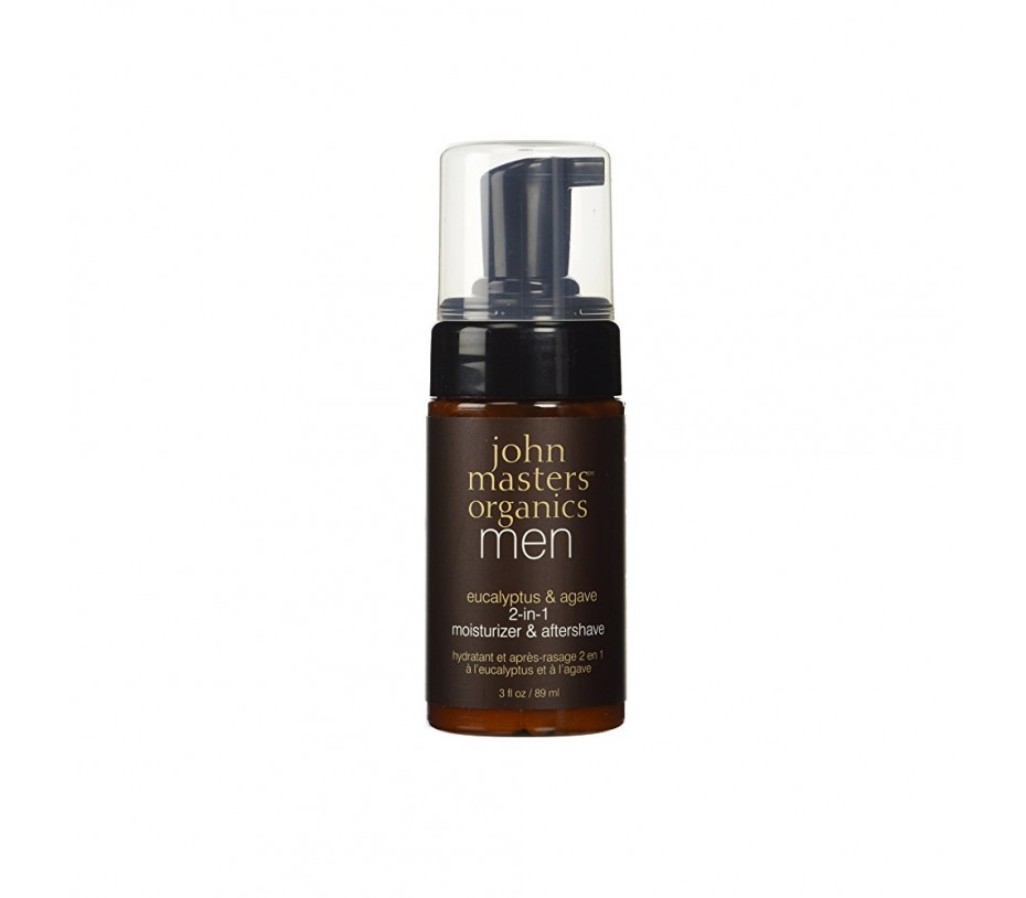John Masters Organics Eucalyptus & Agave 2-in-1 Moistruizer & Aftershave 3fl.oz/89ml