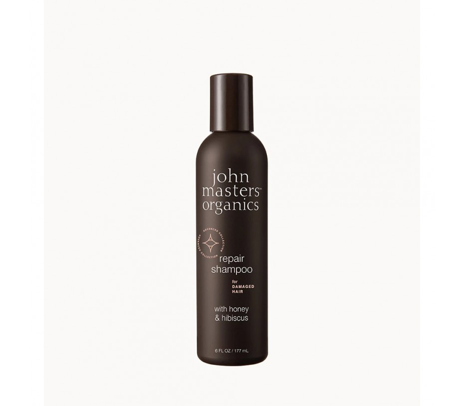 John Masters Organics Repair Shampoo for Damaged Hair with honey & hibiscus 6fl.oz/177ml