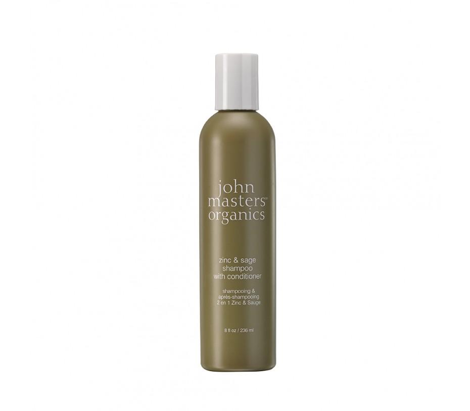 John Masters Organics Zinc & Sage Shampoo with Conditioner 8fl.oz/237ml
