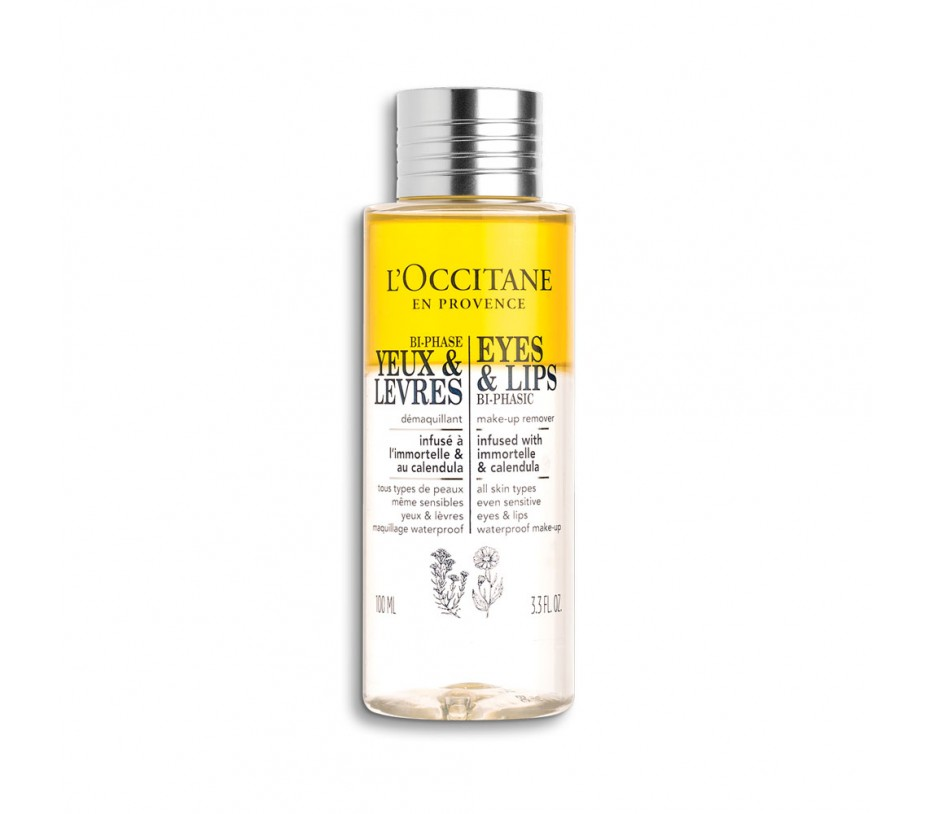 L'occitane Eyes & Lips Bi-Phasic Make-Up Remover 3.3fl.oz/100ml