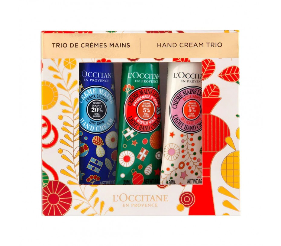 L'occitane Hand Cream Trio Set LTD 2021 Holiday