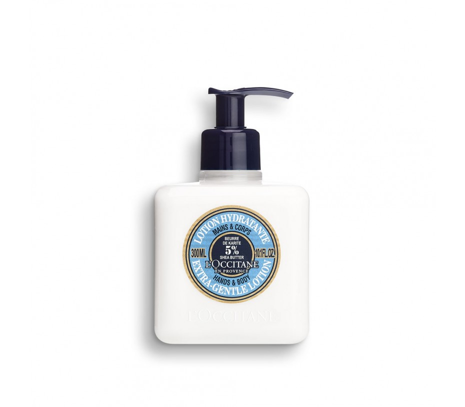 L'occitane Shea Butter Extra Gentle Lotion For Hands and Body 10.1fl.oz/299ml