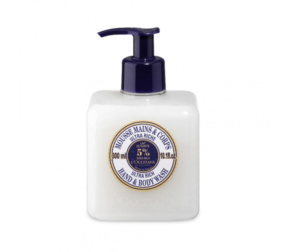 L'occitane Shea Butter Shea Milk Ultra Rich Hand and Body Wash 10.1fl.oz/299ml