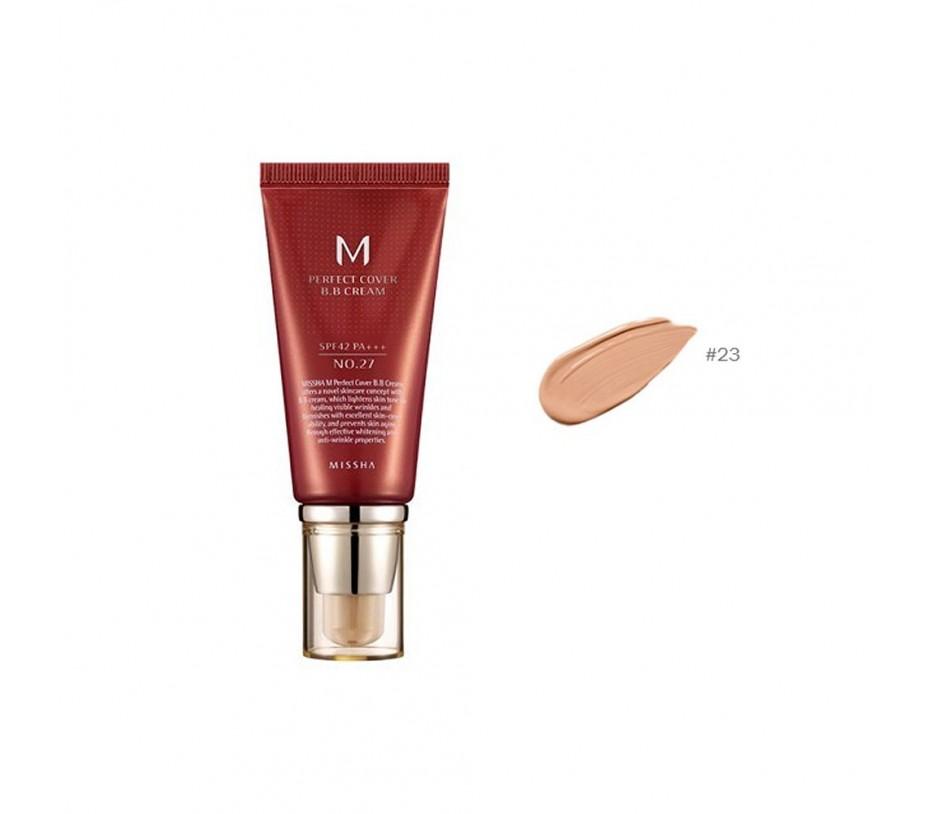 Missha M Perfect Cover  BB Cream SPF 42 PA+++ (No.23 Natural Beige) 1.69oz/48g