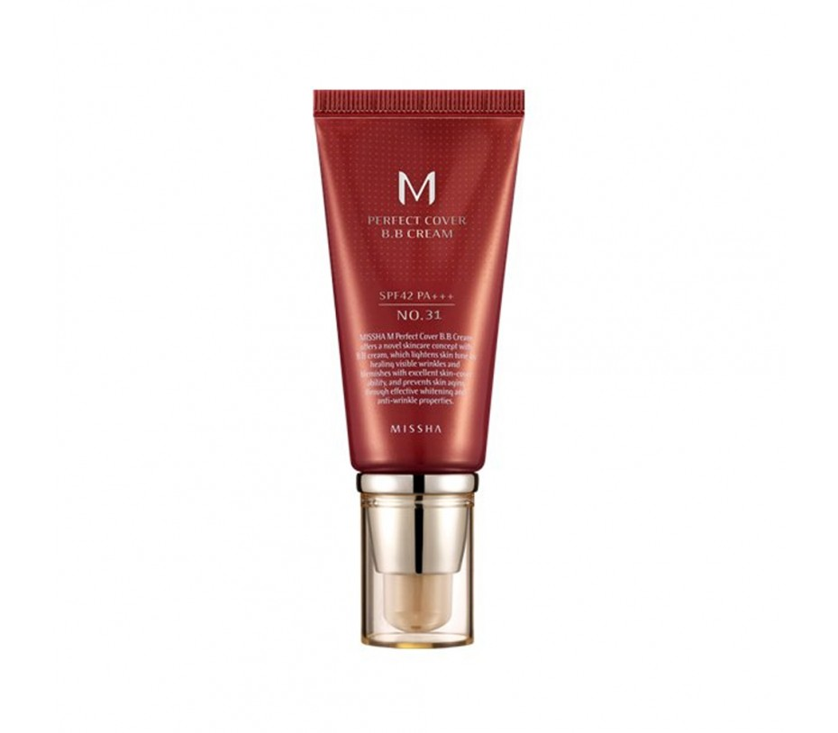 Missha M Perfect Cover  BB Cream SPF 42 PA+++ (No.31 Golden Beige) 1.69oz/48g