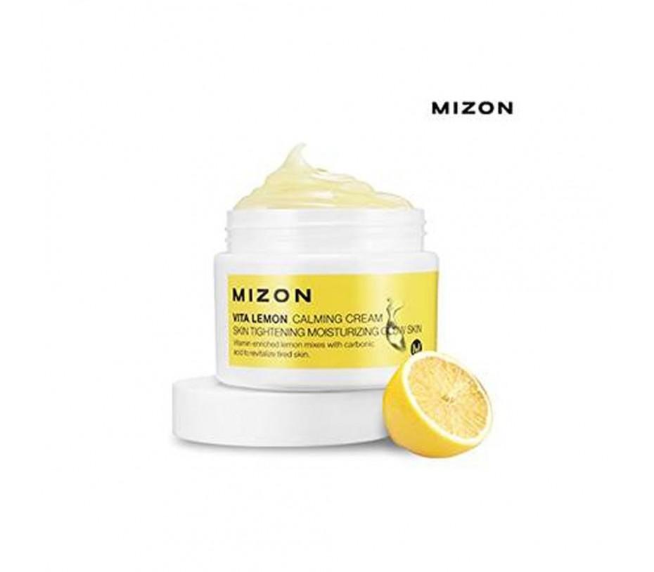 Mizon Vita Lemon Calming Cream Skin Tightening Moisturizing Glow Skin 1.69oz/48g