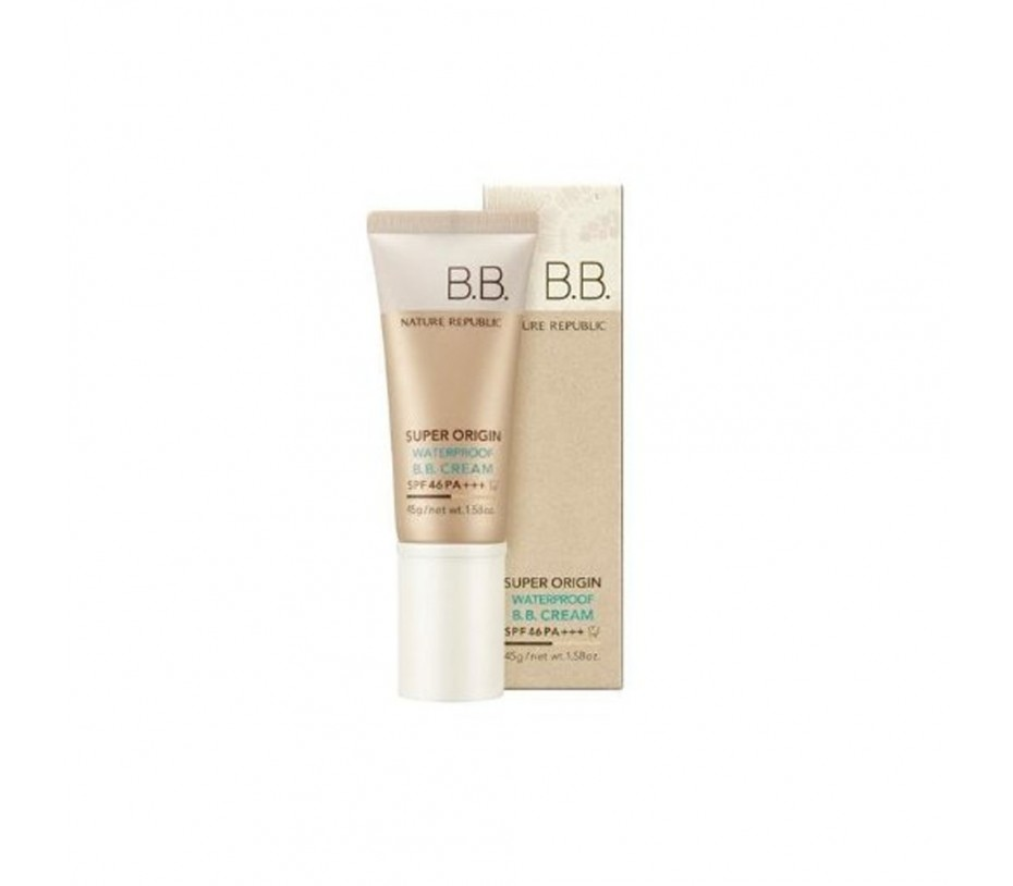Nature Republic Super Origin Waterproof B.B Cream SPF 46 PA+++ 1.58oz/45g