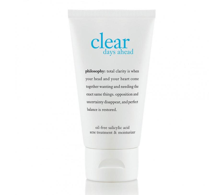 Philosophy Clear Days Ahead Oil-Free Salicylic Acid Acne Treatment & Moisturizer 2fl.oz/59ml