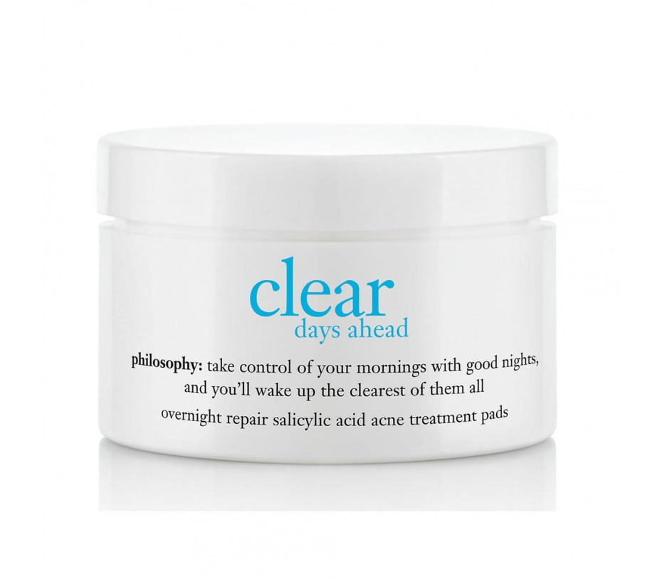 Philosophy Clear Days Ahead Overnight Repair Salicylic Acid Acne Treatment Pads (60 pads)