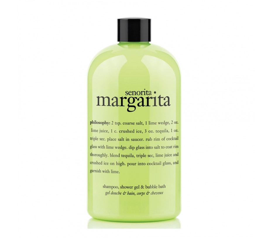 Philosophy Senorita Margarita shampoo, shower gel & bubble bath 16fl.oz/480ml