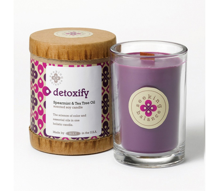 Root Candles Seeking Balance Detoxify (Votive Spearmint & Tea Tree Oil) 6.5oz/184g