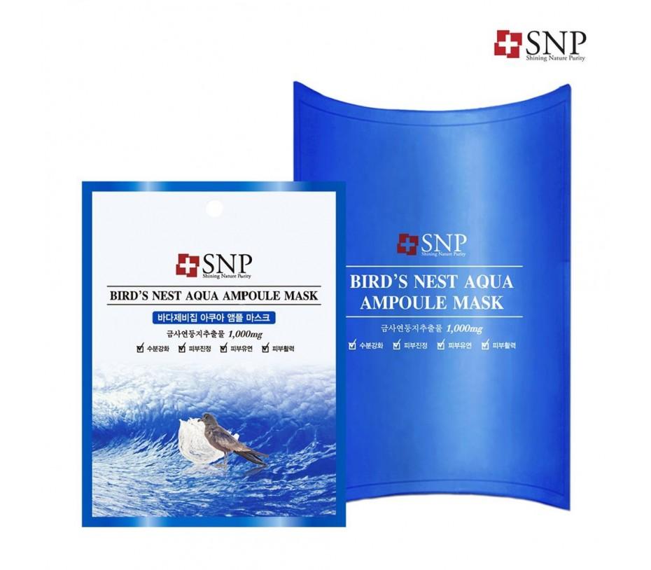 SNP Bird's Nest Aqua Ampoule Mask (10 Pieces)