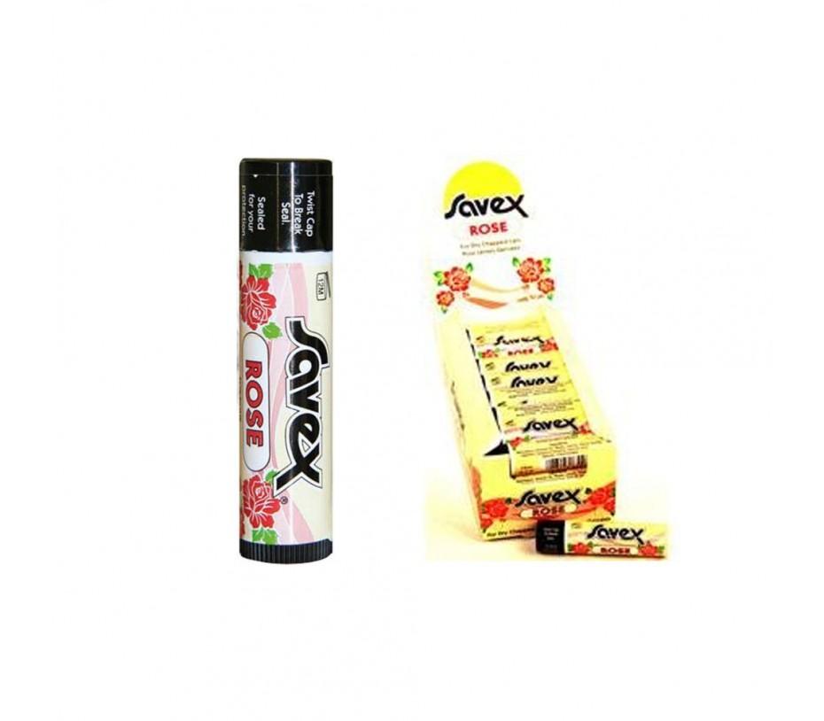 Savex Lip Balm Rose stick (24 Packs) x 0.15oz/4.3g