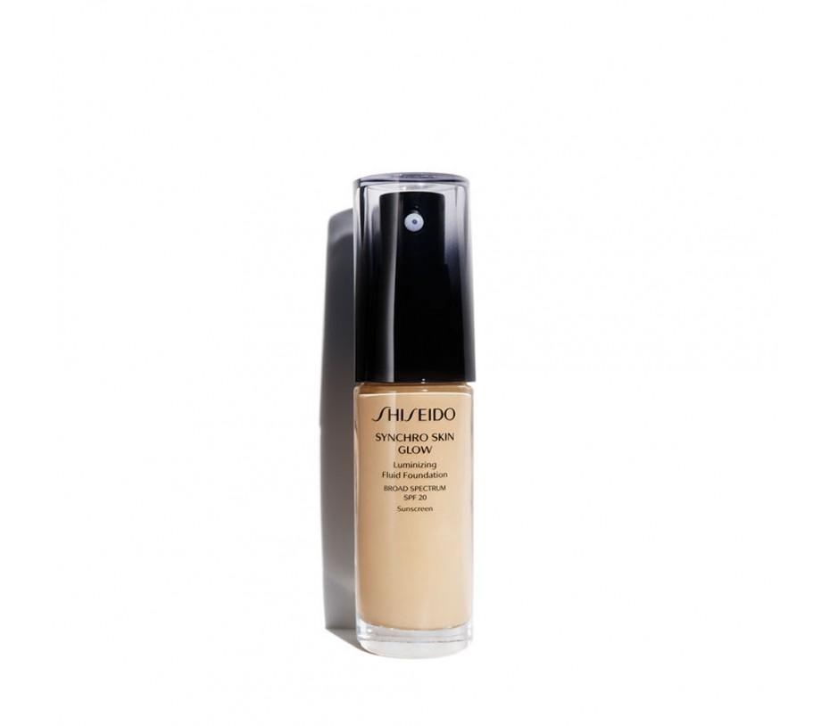 Shiseido Synchro Skin Glow Luminizing Fluid Foundation SPF 20 Golden 3 1fl.oz/30ml