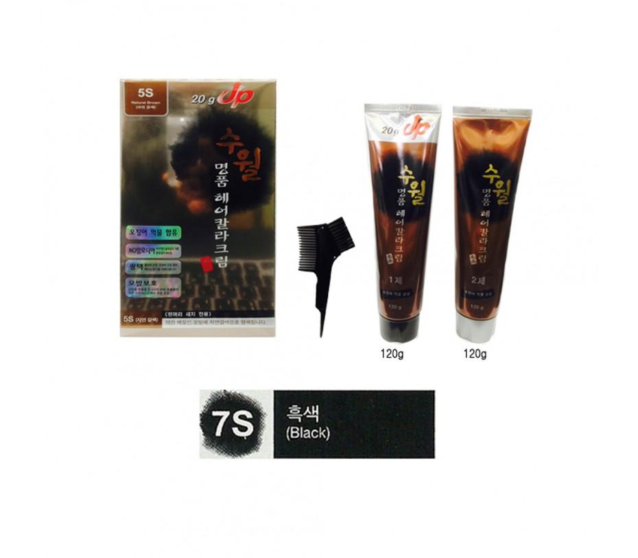Su Wall Luxury Hair Color Cream (7S Black) 120g + 120g