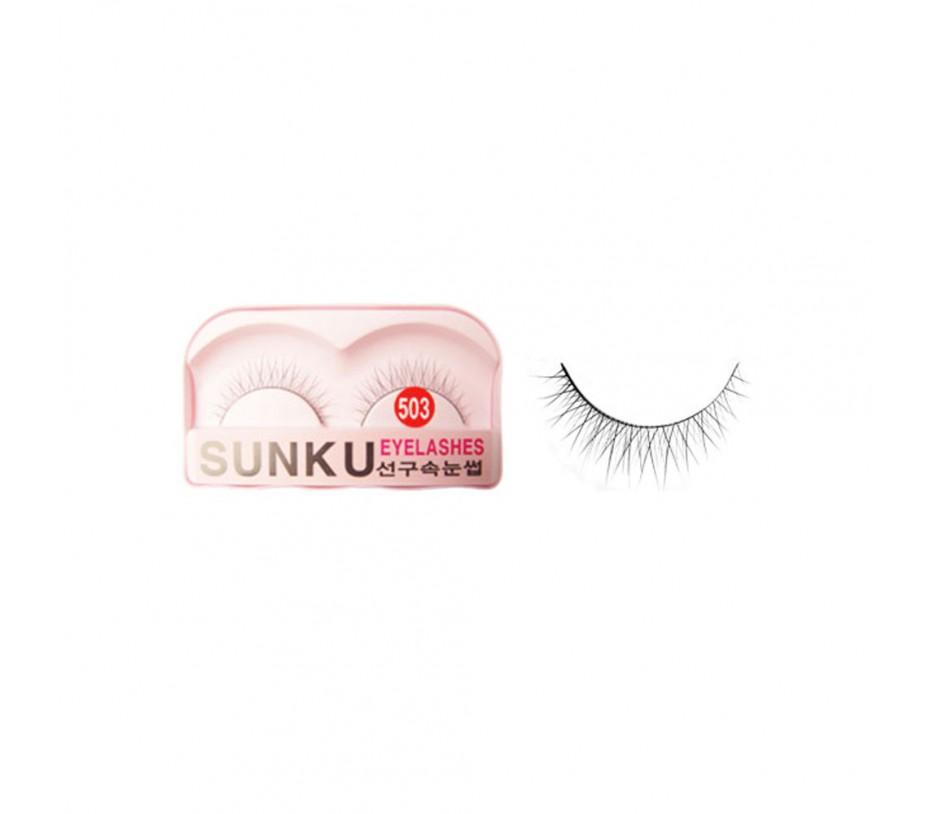 Sunku Eyelash with adhesive (503)