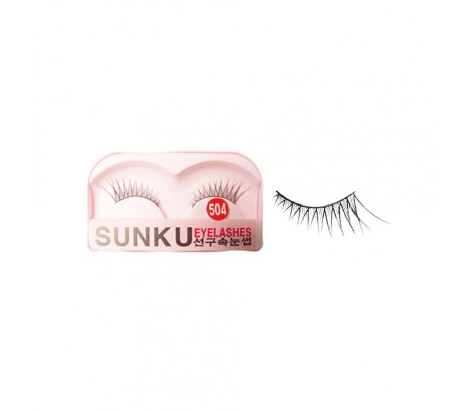 Sunku Eyelash with adhesive (504)