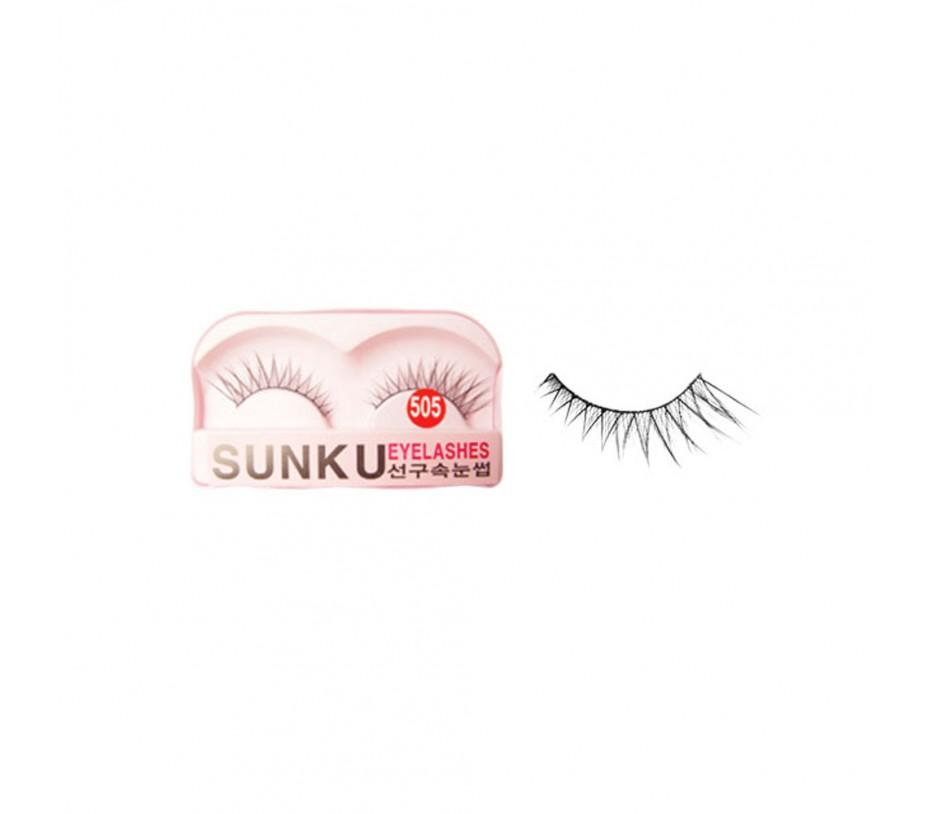 Sunku Eyelash with adhesive (505)