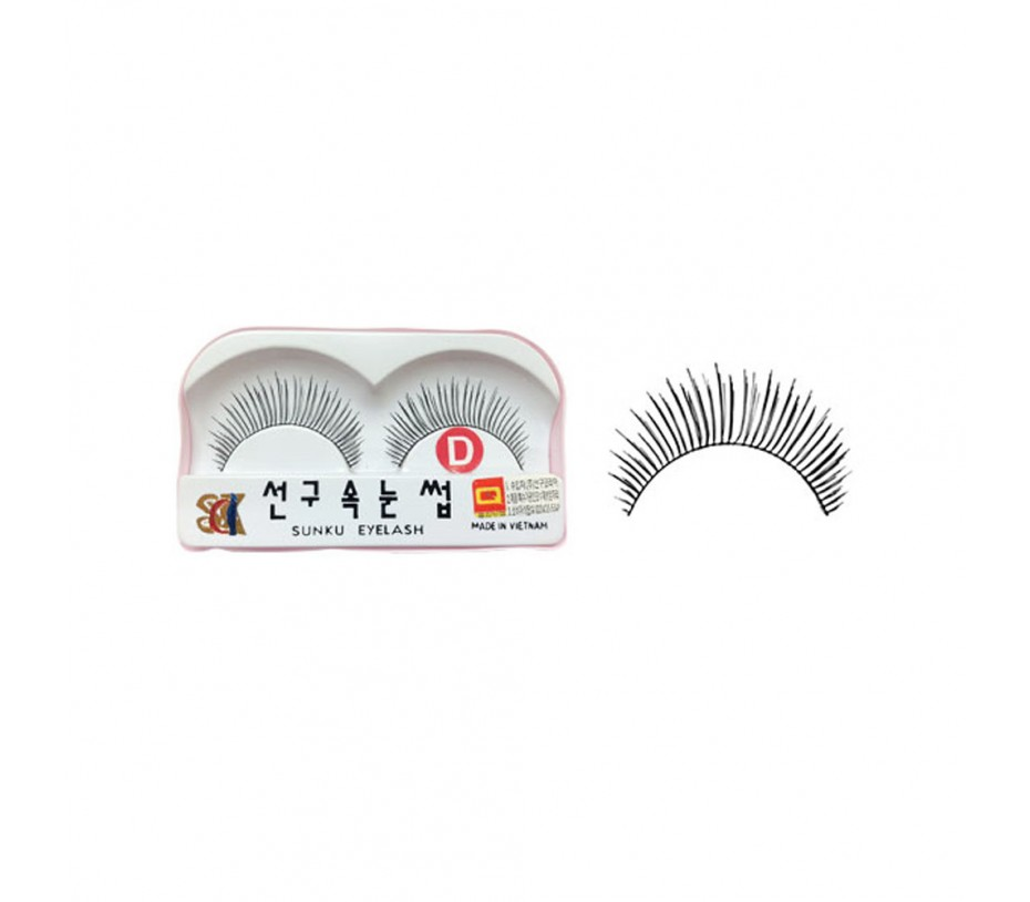 Sunku Eyelash with adhesive (D)