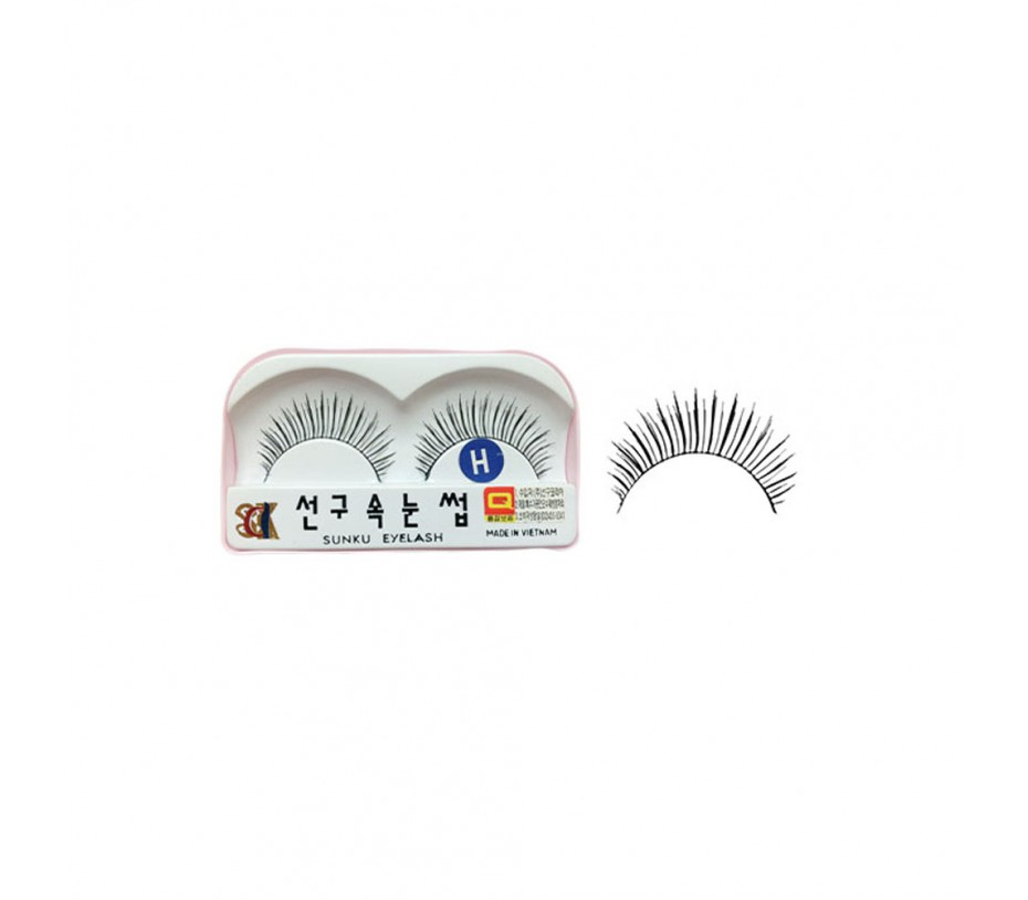 Sunku Eyelash with adhesive (H)