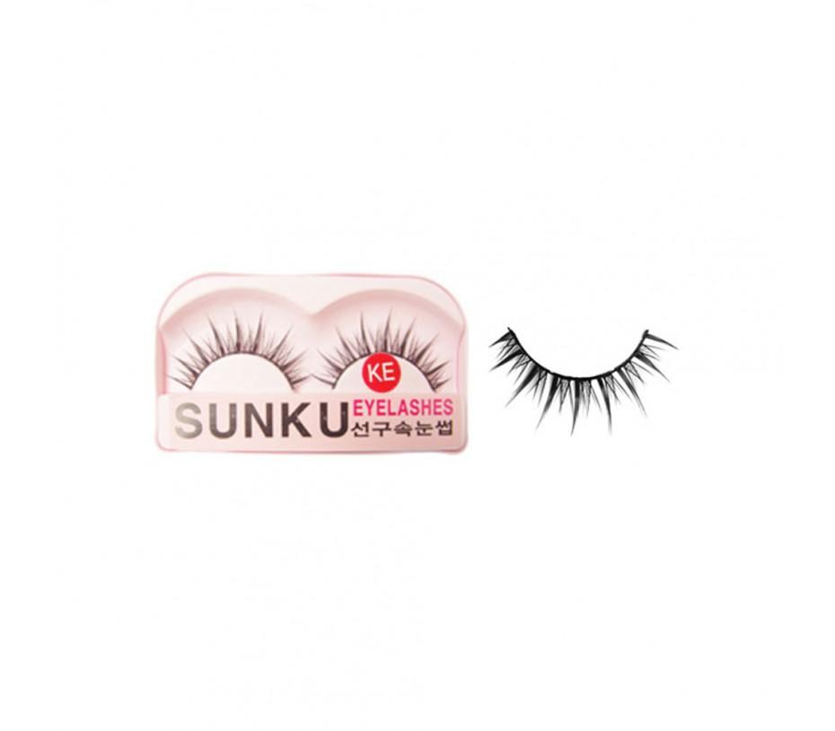 Sunku Eyelash with adhesive (KE)