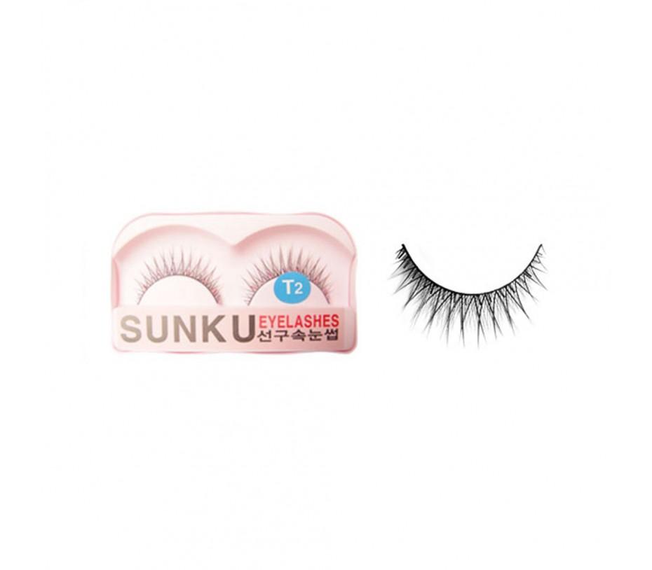 Sunku Eyelash with adhesive (T2)