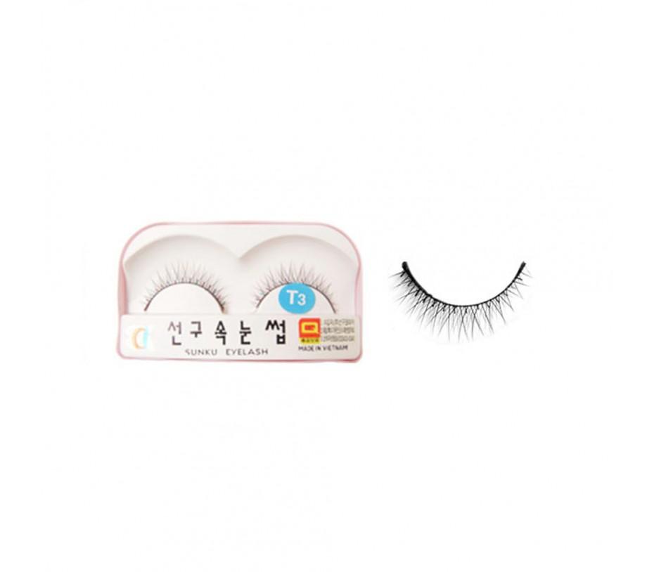 Sunku Eyelash with adhesive (T3)