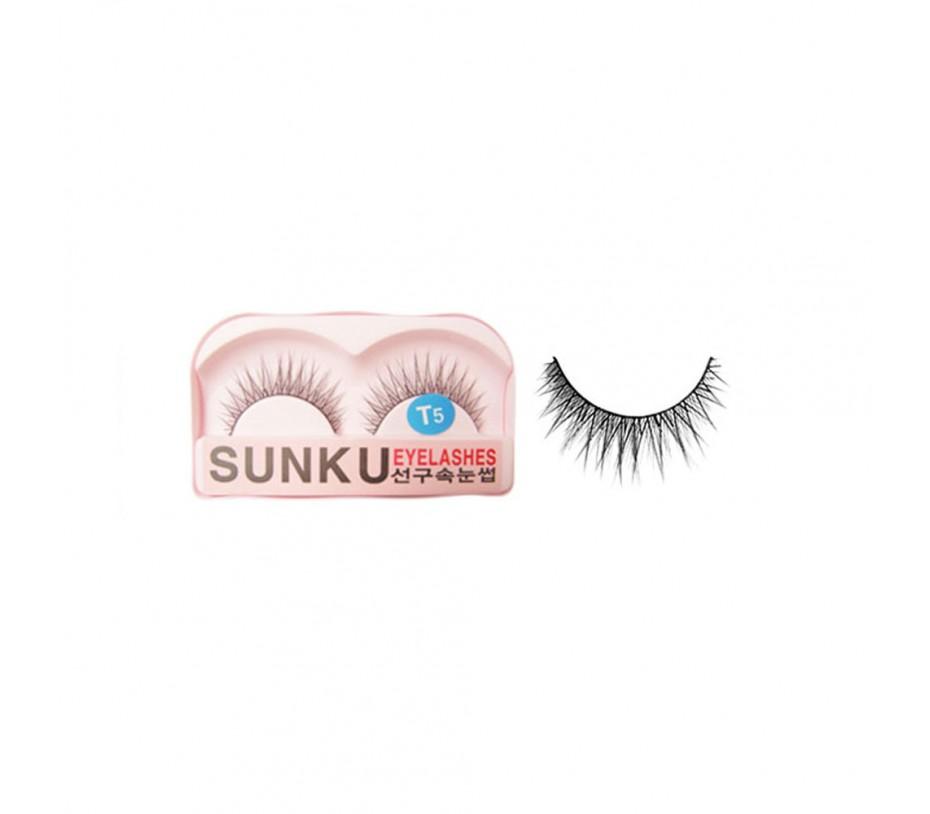 Sunku Eyelash with adhesive (T5)