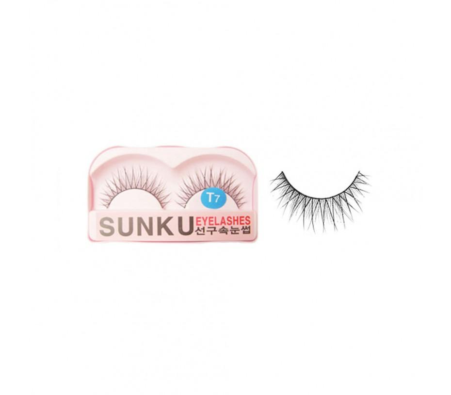 Sunku Eyelash with adhesive (T7)