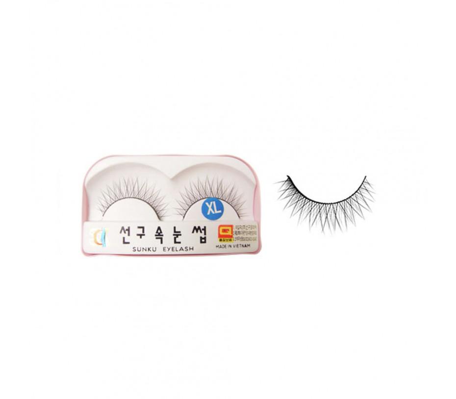 Sunku Eyelash with adhesive (XL)