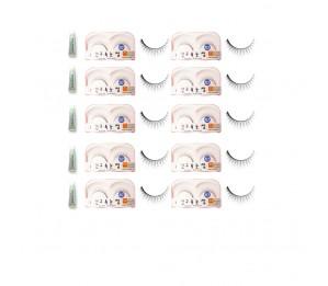 Sunku Eyelash with adhesive (XLT) 10pcs