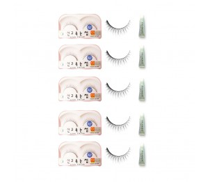 Sunku Eyelash with adhesive (XLT) 5pcs