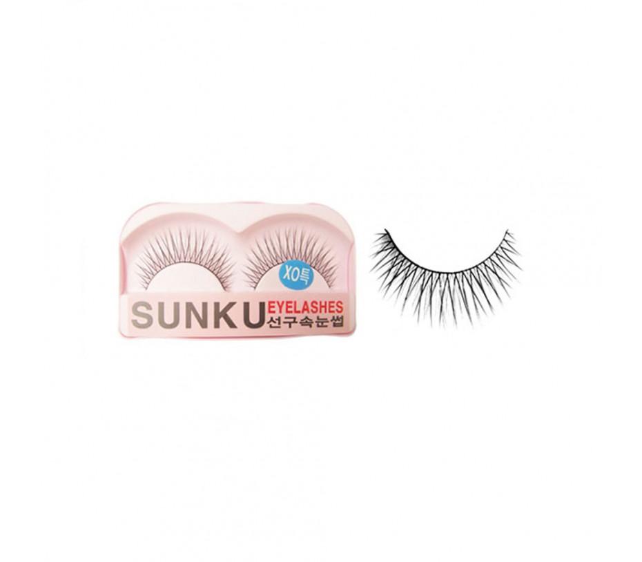 Sunku Eyelash with adhesive (XOsp)