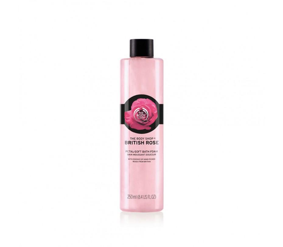 The Body Shop British Rose Petal Soft Bath Foam 8.4oz/238g