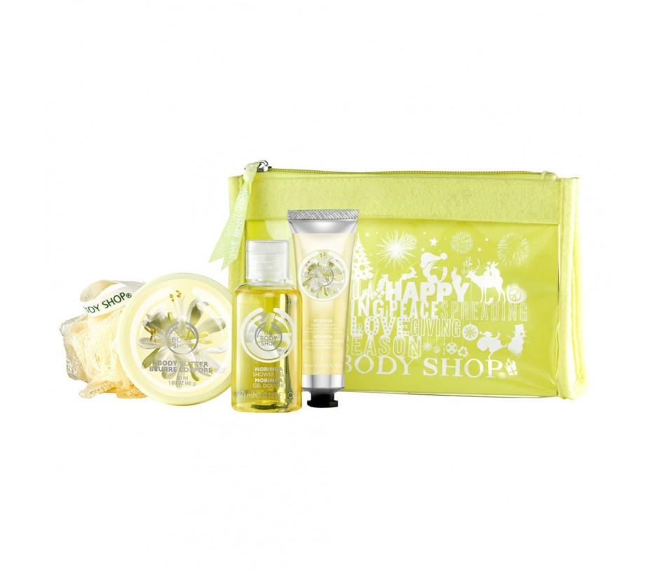 The Body Shop Moringa Beauty Bag 5 Pieces