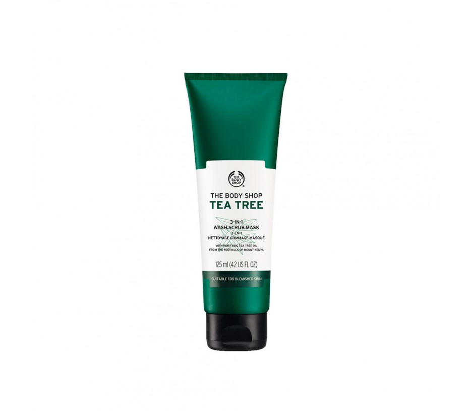 The Body Shop Tea Tree 3-In-1 Wash. Scrub. Mask 4.2oz/119g