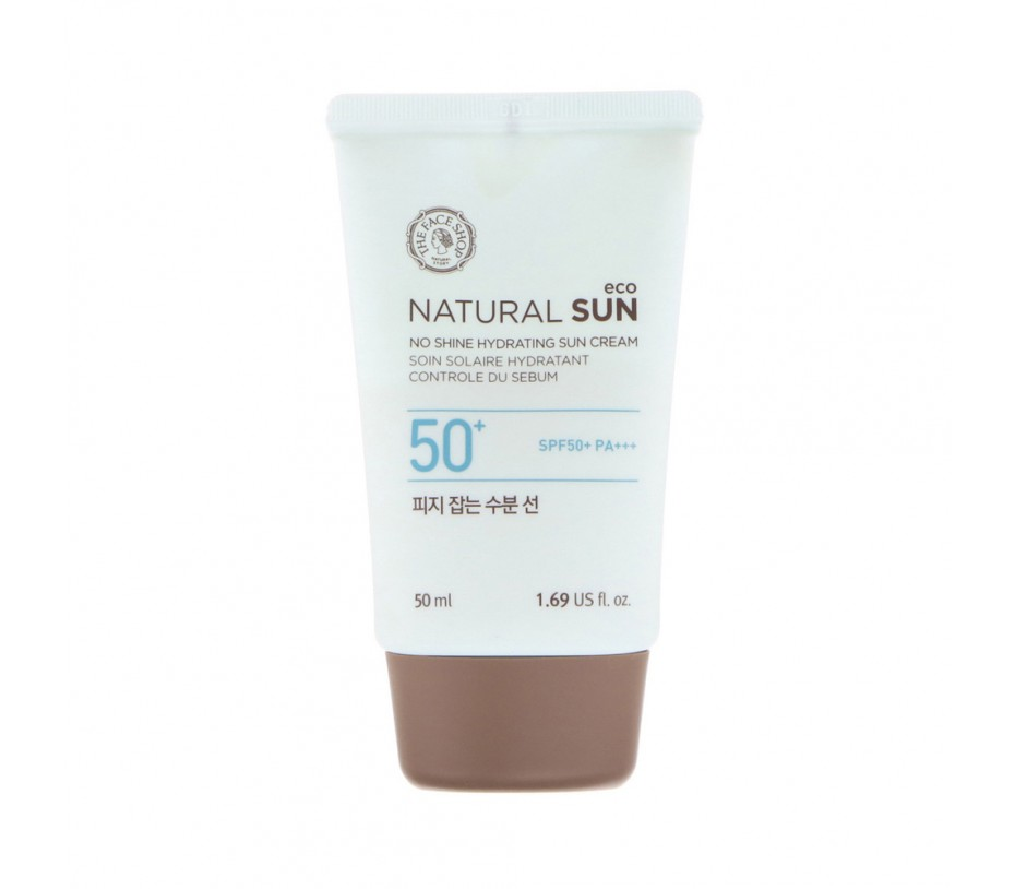 The Face Shop Natural Sun eco No Shine Hydrating Sun Cream 1.69fl.oz/50ml