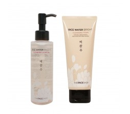 The Face Shop The Face Shop Rice Water Bright Cleansing Oil + Foam Set